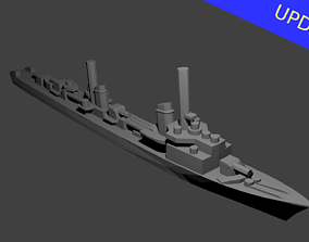 3D print model German Elbing Class Destroyer Warship