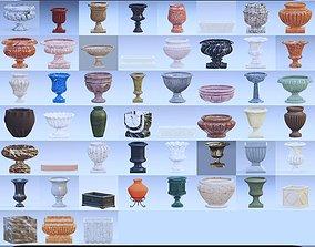 3D Garden urn planter collection