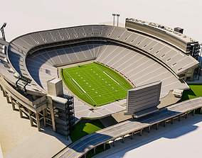 Sanford Stadium Georgia USA 3D asset realtime