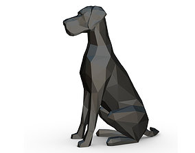 3D printable model great dane low poly