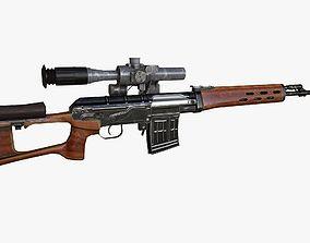 Dragunov Sniper Rifle - SVD 3D asset