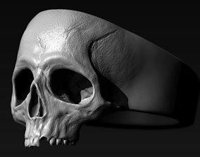 vampire grave Skull Ring 3D print model
