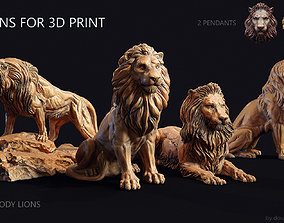 6 lions for 3d print printer