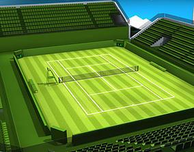 Tennis court 3D