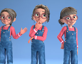 CARTOON GIRL - riggged child 3D