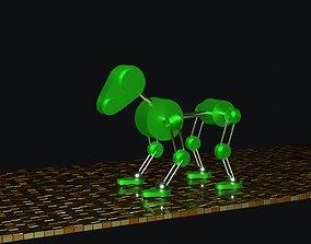 3D asset beautiful dog robot