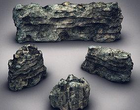 Rocks Stones set 3D model realtime