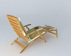 Mattresses OLÉRON long red chair 3D model