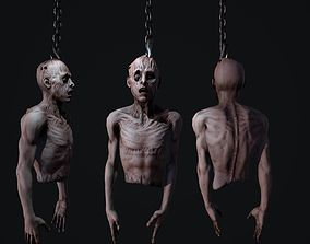 3D asset Creepy hanging man