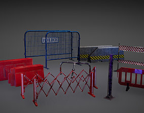 Barriers Game Ready 3D model realtime