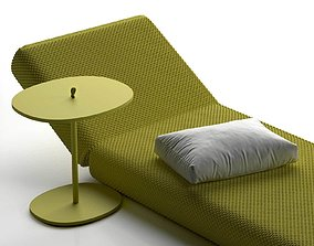 3D model Strap Side Table and Daydream Lounge green