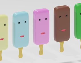 Cartoon Ice Cream 3D model