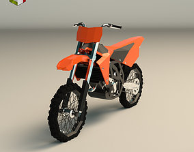 3D asset Low Poly Dirt Bike 01