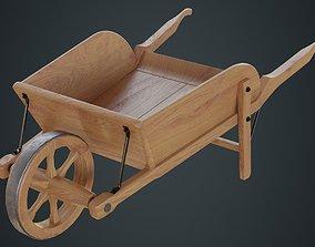 3D asset Wheelbarrow 4C