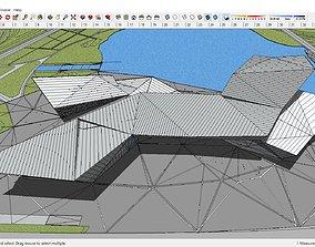 Sketchup Cultural center F9 3D model