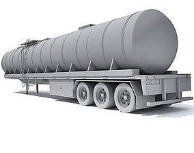 3D model semitrailer Detailed no texture Tanker Trailer 13