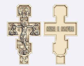 3D printable model cross with jesus