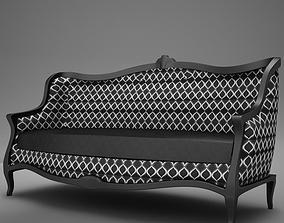 3D Old Modern club Sofa