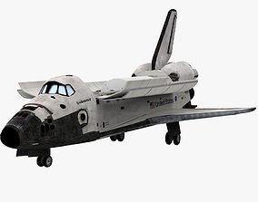 3D model low-poly Endeavour shuttle