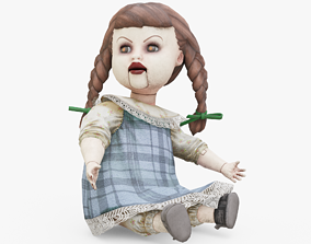 Creepy Doll 3D asset