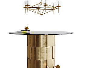 3D Table and chandelier Worlds Away