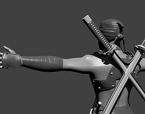 3D model Stylized Ninja Warrior Character