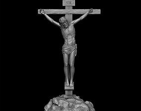 resurrection Jesus Christ On The Cross 3D printable model