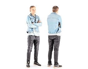 3D asset Man casual style 09