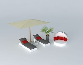 Antibes, sunbathing 3D