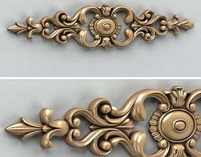 Carved decor horizontal 006 3D architectural