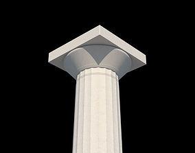 Doric order column a 3D volute
