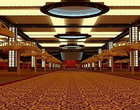 blackjack 3D model Resort World Sentosa Casino Interior