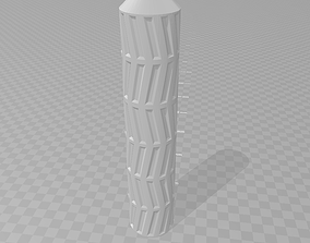 Airsoft silencer-suppressor 40x202 mm 3D printable model