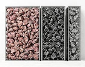 Gabion medium rock stone 3D