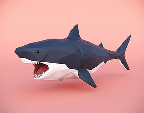 Low Poly Shark 3D model