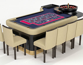ROULETTE GAMING TABLE 3D model