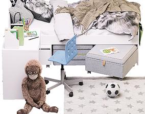 Children set of room ikea 3D model