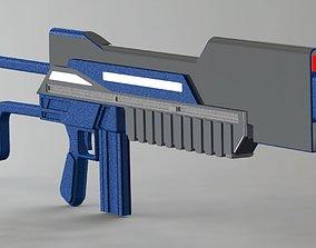 3D model VR / AR ready Conceptual gun 4