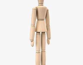Woodenman 3D asset