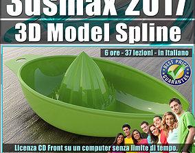 042 3ds max 2017 3D Model Spline v42 Italiano cd