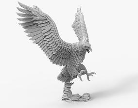 Eagle Flight Attack Sculpture 3D print model