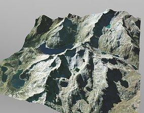 Mountain Range in Southern France 3D model