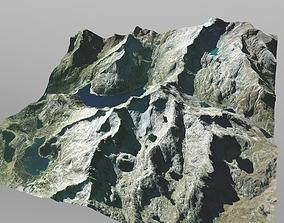 3D model Mountain Range in Southern France