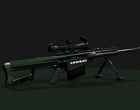 game-ready barrett 50 cal low poly 3d model
