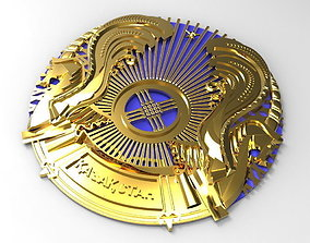 Coat of Arms of Republic of Kazakhstan 3D model