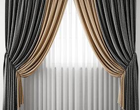 3D model luxury Curtain 102