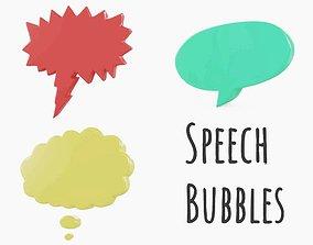 3D asset Speech Bubbles