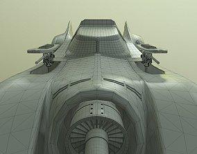 Batmobile 1989 3D model animated