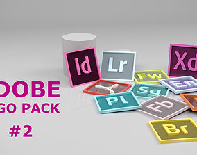 various Adobe Icon or Logo pack 2 3D