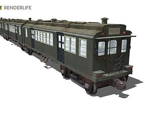 3D model Old Chicago subway train